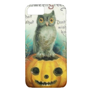 Owl on Pumpkin Halloween iPhone 7 Case