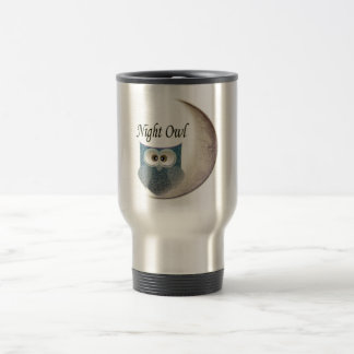 Owl on the Moon Art Travel Mug