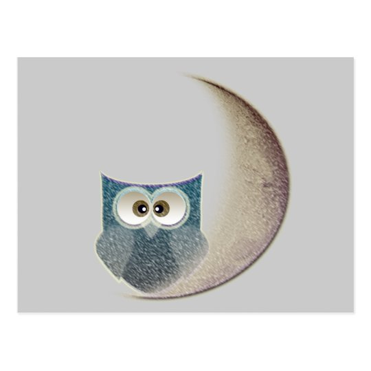 owl on the Moon Postcard