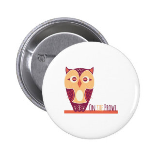 Owl_On_The_Prowl 6 Cm Round Badge
