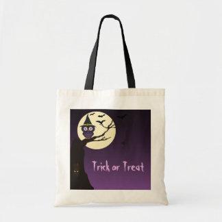 Owl on tree branch Halloween Bag