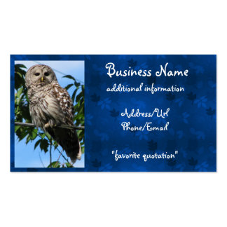Owl On Wire Business Cards