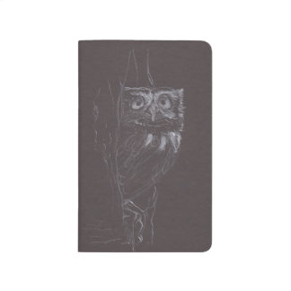 Owl - Original Drawing - Pocket Journal
