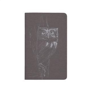 Owl - Original Drawing - Pocket Journal
