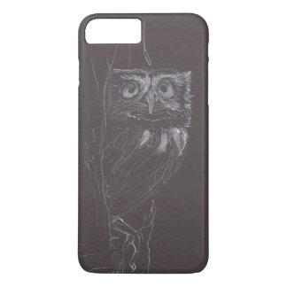 Owl - Original Drawing - White Ink - Case