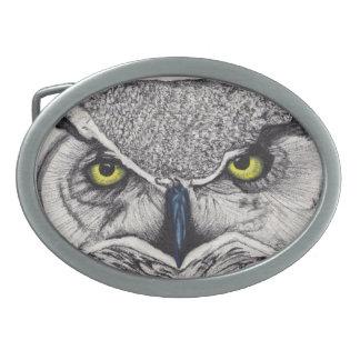 owl oval belt buckles