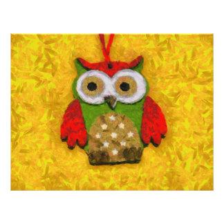 Owl painting 21.5 cm x 28 cm flyer