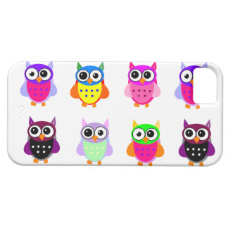 Owl party retro kawaii cute colorful owls iPhone Barely There iPhone 5 Case
