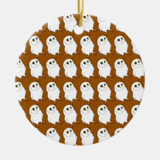 Owl Pattern Christmas Ornament