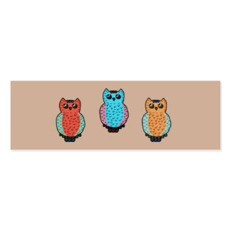 Owl Pattern Classroom Bookmarks Pack Of Skinny Business Cards