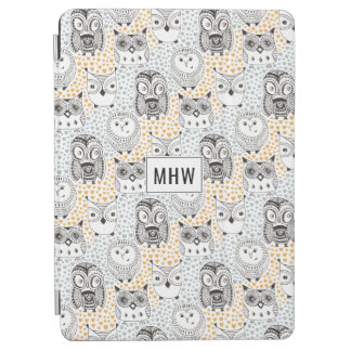 Owl Pattern custom monogram device cases iPad Air Cover