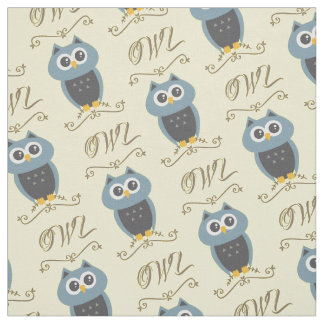 Owl pattern fabric