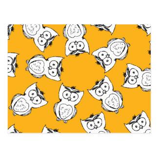 Owl Pattern Fun Postcard