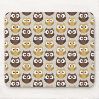 Owl patterned mouse mat