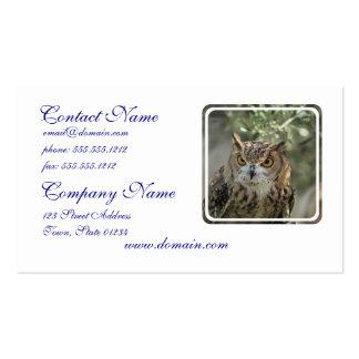 Owl Perch Business Card Templates