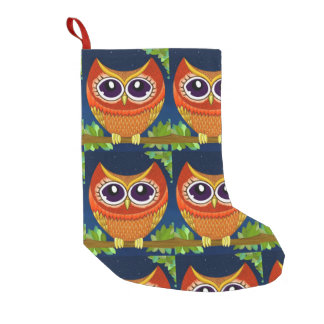 Owl Perch Santa Stockings