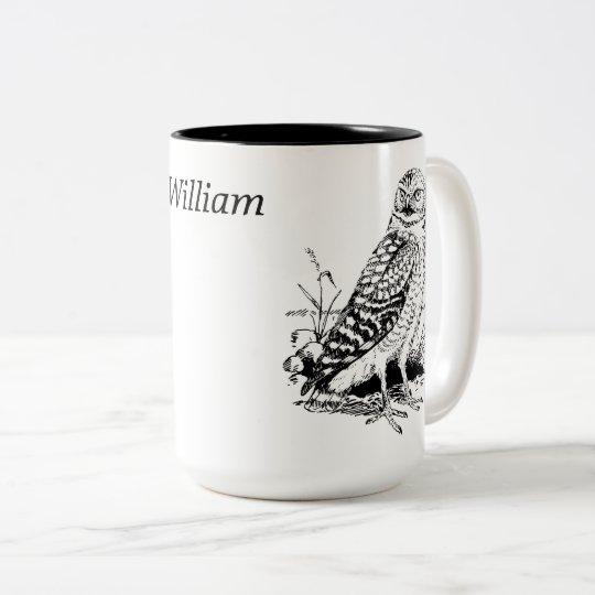 Owl Personalised Two-Tone Coffee Mug