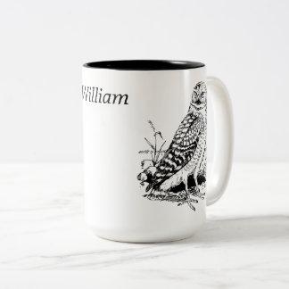 Owl Personalized Two-Tone Coffee Mug