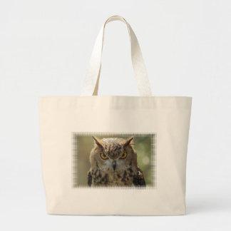 Owl Photo Jumbo Tote Bag