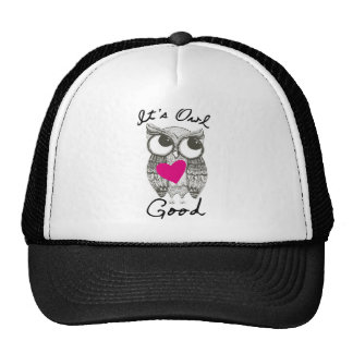 owl pictures mesh hat