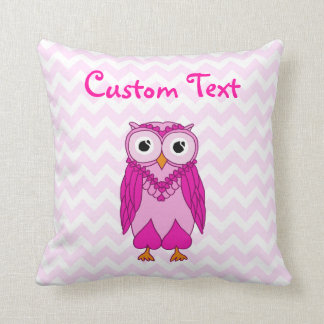 Owl Pillow: Pink Custom Cushions