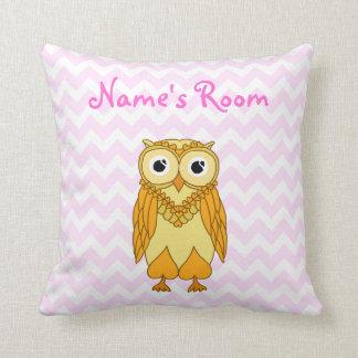 Owl Pillow: Yellow Custom Throw Pillow