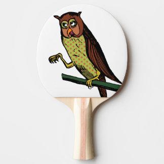 owl ping pong paddle