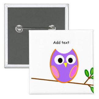 Owl: Pink & Purple Owl Pin