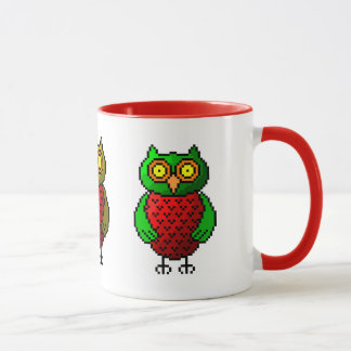 Owl pixel art mug