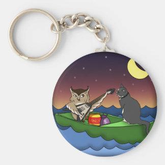 Owl Plus Pussycat keychain