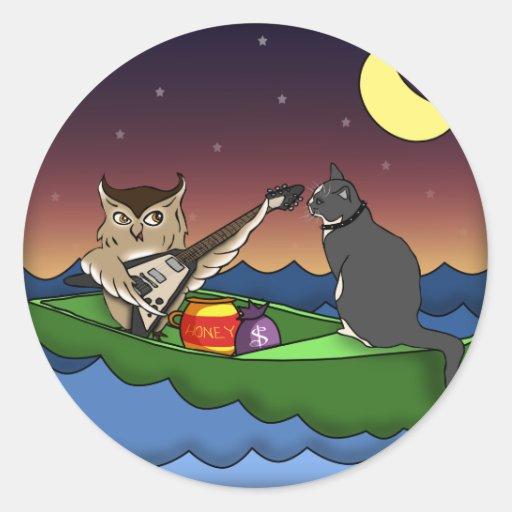 Owl Plus Pussycat, sticker