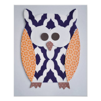 Owl Print for baby nursery or child's room