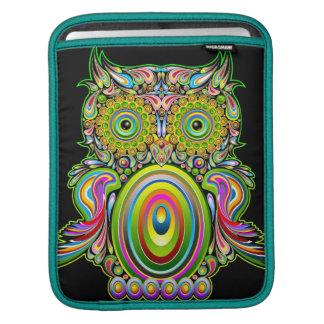 Owl Psychedelic Design iPad Sleeves