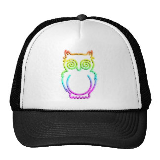 Owl Psychedelic Neon Light Hat