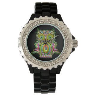 Owl Psychedelic Pop Art watch