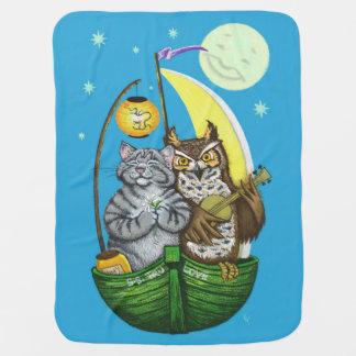 Owl & Pussycat Baby Blanket