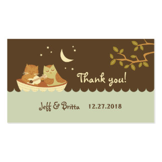 Owl & Pussycat Wedding Favor Tags Business Cards