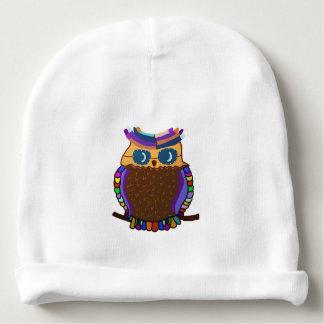 Owl Rainbow Baby Beanie