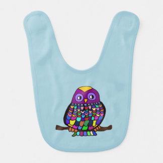 Owl Rainbow Baby Bibs