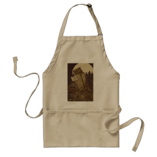 Owl  Reading by Moonlight Apron