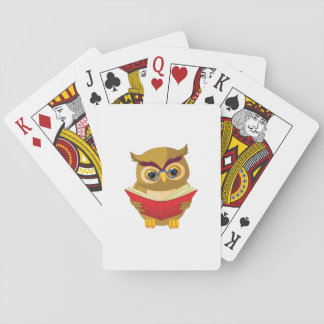 Owl Reading Playing Cards