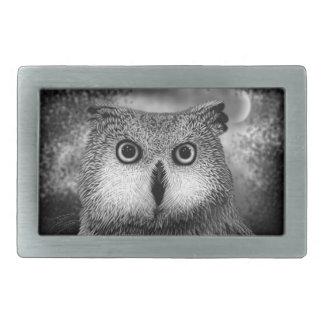 Owl Rectangular Belt Buckles