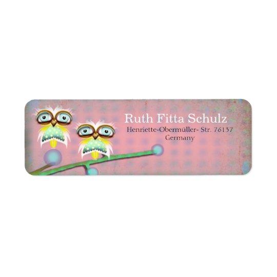 Owl Return Address Labels