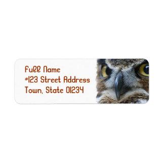 Owl Return Address Mailing Label