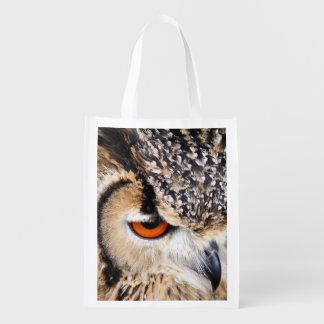 OWL REUSABLE GROCERY BAG
