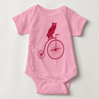 Owl Rider on Penny Farthing Bike Shirt