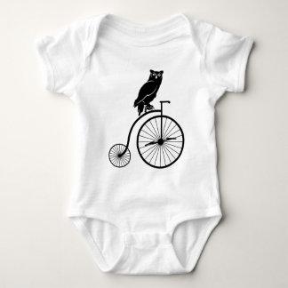 Owl Rider on Penny Farthing Bike Tshirt
