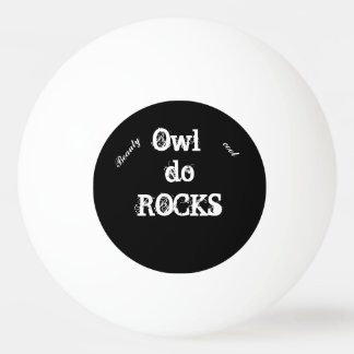 Owl rocks ping pong ball