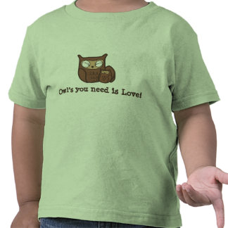 Owl s You Need is Love Tee Shirts