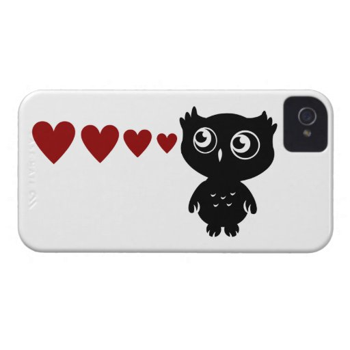 Owl Sees Love I Case-Mate iPhone 4 Cases